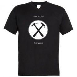 Мужская футболка  с V-образным вырезом Pink Floyd The Wall - FatLine