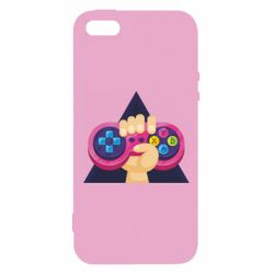 Купить Игры, Чехол для iPhone5/5S/SE Pink joystick in hand, FatLine