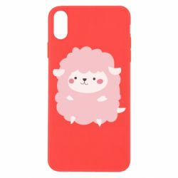Чехол для iPhone X/Xs Pink lamb