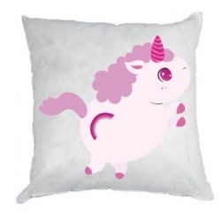 Подушка Pink Unicorn and rainbow