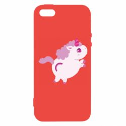 Чехол для iPhone5/5S/SE Pink Unicorn and rainbow
