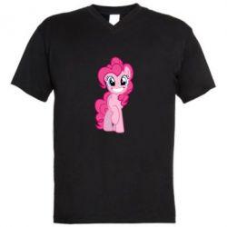 Чоловічі футболки з V-подібним вирізом Pinkie Pie smile - FatLine
