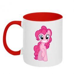 Кружка двоколірна Pinkie Pie smile - FatLine