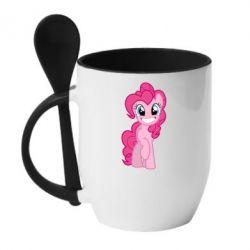 Кружка з керамічною ложкою Pinkie Pie smile - FatLine