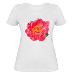 Женская футболка Пион
