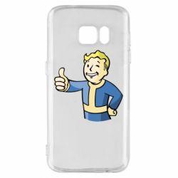 Чехол для Samsung S7 Pip boy fallout