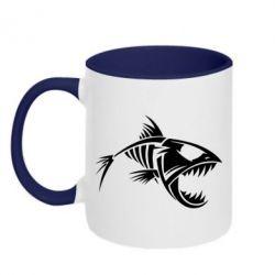 Кружка двухцветная Piranha