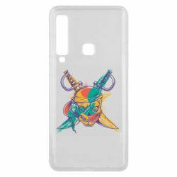 Чохол для Samsung A9 2018 Pirate skull and paint strokes