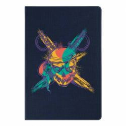 Блокнот А5 Pirate skull and paint strokes