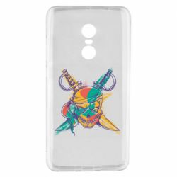 Чохол для Xiaomi Redmi Note 4 Pirate skull and paint strokes