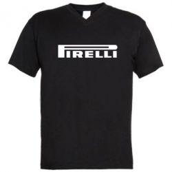 Мужская футболка  с V-образным вырезом Pirelli - FatLine