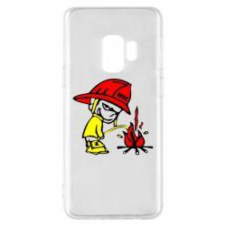 Чехол для Samsung S9 Писающий хулиган-пожарный