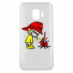 Чехол для Samsung J2 Core Писающий хулиган-пожарный