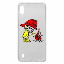 Чехол для Samsung A10 Писающий хулиган-пожарный
