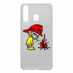 Чехол для Samsung A60 Писающий хулиган-пожарный