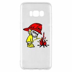 Чехол для Samsung S8 Писающий хулиган-пожарный
