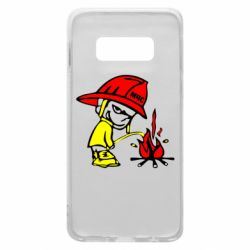Чехол для Samsung S10e Писающий хулиган-пожарный