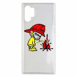 Чохол для Samsung Note 10 Plus Пісяючий хуліган-пожежний