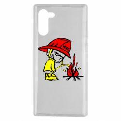Чохол для Samsung Note 10 Пісяючий хуліган-пожежний