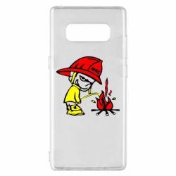 Чохол для Samsung Note 8 Пісяючий хуліган-пожежний