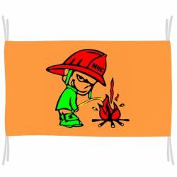 Флаг Писающий хулиган-пожарный