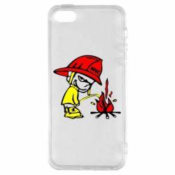 Чехол для iPhone5/5S/SE Писающий хулиган-пожарный