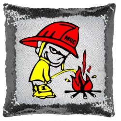 Подушка-хамелеон Писающий хулиган-пожарный