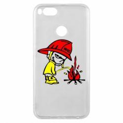 Чохол для Xiaomi Mi A1 Пісяючий хуліган-пожежний