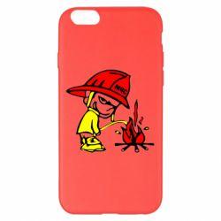 Чехол для iPhone 6 Plus/6S Plus Писающий хулиган-пожарный