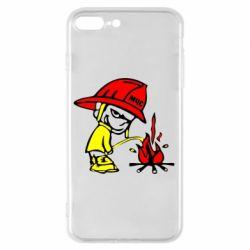 Чехол для iPhone 7 Plus Писающий хулиган-пожарный