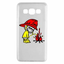 Чехол для Samsung A3 2015 Писающий хулиган-пожарный