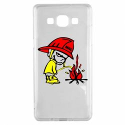 Чехол для Samsung A5 2015 Писающий хулиган-пожарный