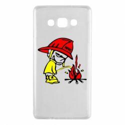 Чехол для Samsung A7 2015 Писающий хулиган-пожарный
