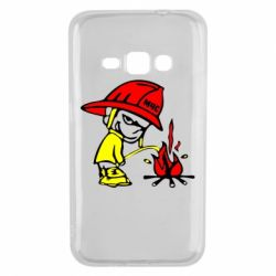 Чехол для Samsung J1 2016 Писающий хулиган-пожарный