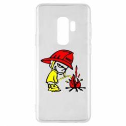 Чехол для Samsung S9+ Писающий хулиган-пожарный