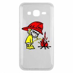 Чехол для Samsung J5 2015 Писающий хулиган-пожарный