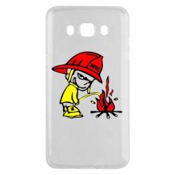Чехол для Samsung J5 2016 Писающий хулиган-пожарный