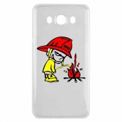 Чехол для Samsung J7 2016 Писающий хулиган-пожарный