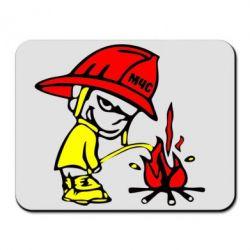 Коврик для мыши Писающий хулиган-пожарный - FatLine
