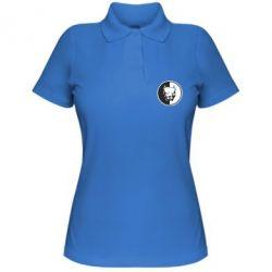 Женская футболка поло Питбуль круг