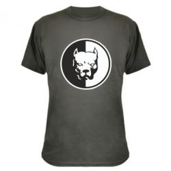 Камуфляжная футболка Питбуль круг