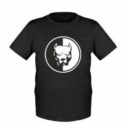 Детская футболка Питбуль круг