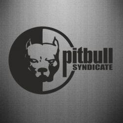 Наклейка Питбуль Синдикат - FatLine