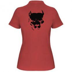 Женская футболка поло Питбуль