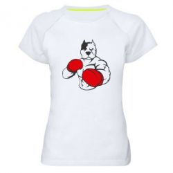 Купить Женская спортивная футболка Pitbull Boxing Logo, FatLine