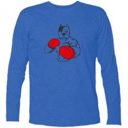 Купить Футболка с длинным рукавом Pitbull Boxing Logo, FatLine