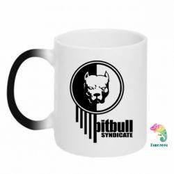 Кружка-хамелеон Pitbull loco