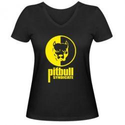 Женская футболка с V-образным вырезом Pitbull Syndicate - FatLine
