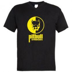 Мужская футболка  с V-образным вырезом Pitbull Syndicate - FatLine