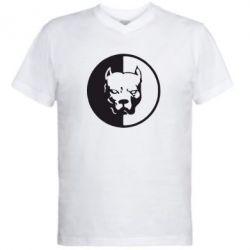 Мужская футболка  с V-образным вырезом Pitbull - FatLine